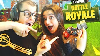 Mi HERMANA JUEGA a FORTNITE: Battle Royale POR PRIMERA VEZ!! - AlphaSniper97