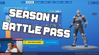 FORTNITE SEASON X BATTLE PASS REACTION 🔥