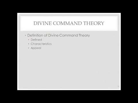 Ethics: Divine Command Theory