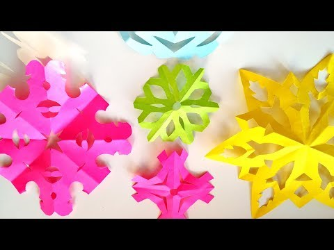 How To Make Easy Paper Snowflakes For Xmas Decor - DIY 5 Min Winter Crafts Ideas \ Tutorial