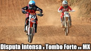 Disputa intensa e tombo forte no Catarinense Motocross - corrida da Junior / 85cc
