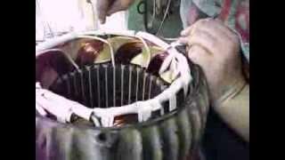 Перемотка статора электродвигателя. Часть 2.(, 2013-10-25T15:24:13.000Z)