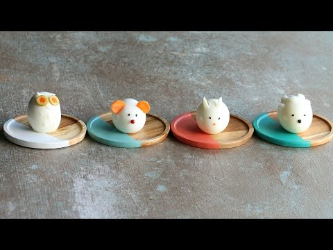 Lustig gestaltete harte Eier