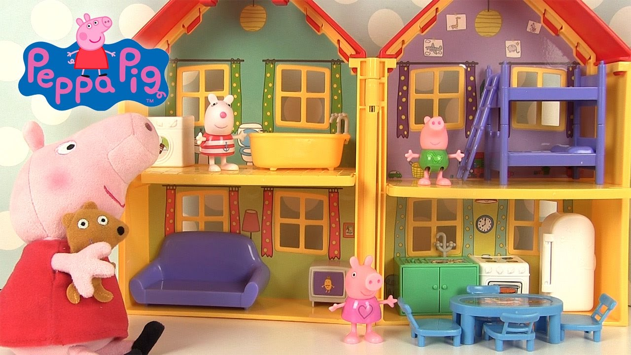 la f te de peppa pig avec m patate maison de peppa pig. Black Bedroom Furniture Sets. Home Design Ideas