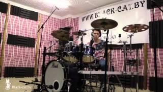 """Нил Бобров, ученик студии """"Black CaT"""", песня Shadow Moses (Cover), обучение на барабанах в Минске."""