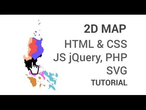 2D Interactive Map with HTML CSS jQuery & Illustrator [3 of 3]