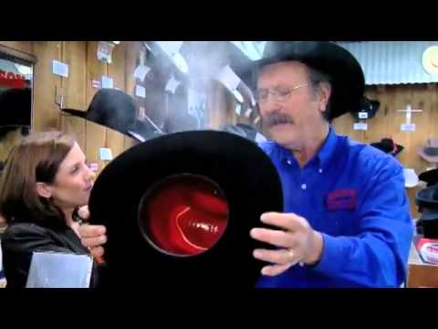 Sam's Western Store demonstrates how to shape hats