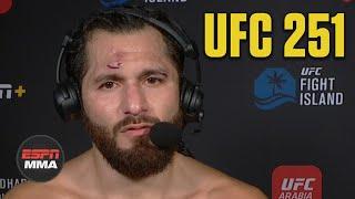 Jorge Masvidal: Kamaru Usman Fought A 'beautiful' Fight | Ufc 251 Post Show | Espn Mma