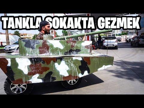 TANKLA SOKAKTA GEZMEK!! (POLİS GÖRDÜ)