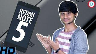 Redmi Note 5 - MIUI 9 Based On Android Nougat, 16MP Camera & Snapdragon 630 Soc Hindi