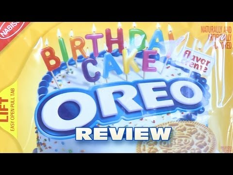 Golden Birthday Cake Oreo Cookie Review: Oreo Oration