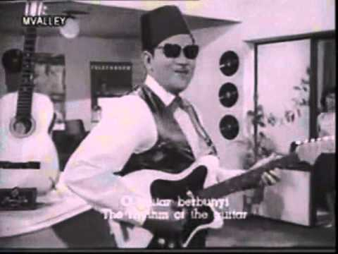 BUNYI GITAR (P.Ramlee 1964) - Voc:/Karaoke - WARDI AHMAD