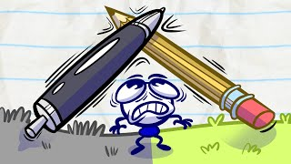 Pencilmate's Battle Of Ink! | Animated Cartoons Characters | Animated Short Films | Pencilmation