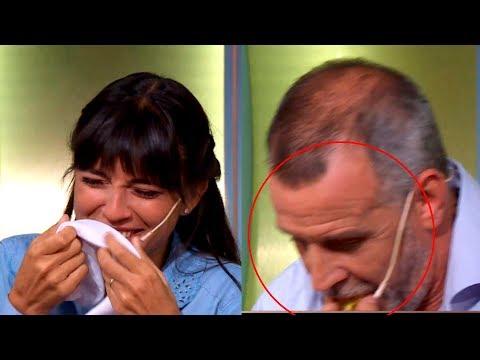 ¡Christian Petersen devolvió un bocado y Felicitas Pizarro estalló de risas!