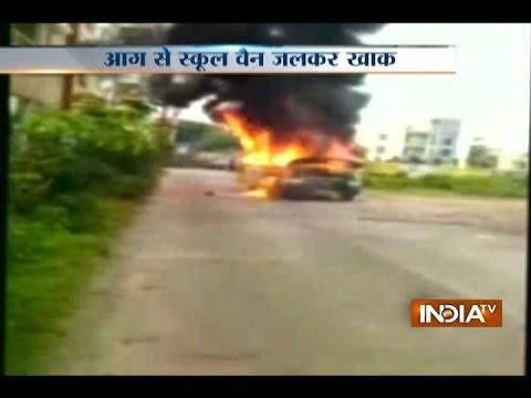 School Van Catches Fire in Hyderabad, No Casualty Reported