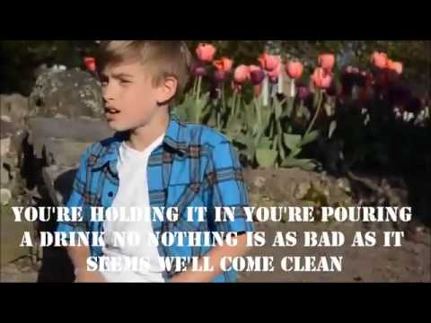P!nk Just Give Me A Reason Cover by Johnny Orlando lyrics on screen   MP4 360p1