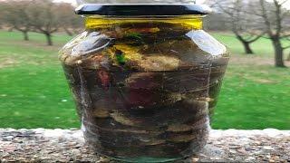 How To Make Makdous - Pickled Stuffed Eggplants - طريقة تحضير مكدوس الباذنجان