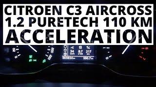 Citroen C3 Aircross 1.2 PureTech 110 KM (AT) - acceleration 0-100 km/h
