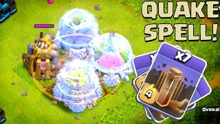 Clash of Clans | NEW EARTHQUAKE DARK SPELL! | New Update Dark Spell Gameplay!