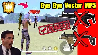 Double Vector & MP5 Permanent Removed😵🔥क्या होगा अब ?