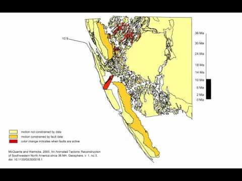 Amazing Interaction of North American and Pacific Plate