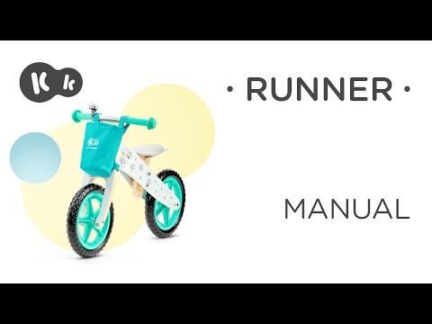 KinderKraft Колело за балансиране Runner Galaxy Синьо #LwsOXF_RdJk
