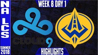 Video C9 vs GGS Highlights | NA LCS Summer 2018 Week 8 Day 1 | Cloud9 vs Golden Guardians download MP3, 3GP, MP4, WEBM, AVI, FLV Agustus 2018
