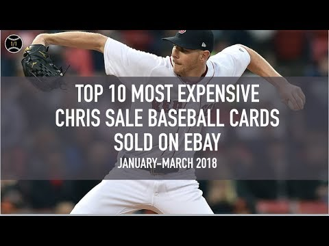 Top 10 Most Expensive Chris Sale Baseball Cards Sold On Ebay January March 2018