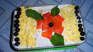 GVK : Салат Мимоза, Мимоза, салат с сайрой, салат с рыбной консервой, украшаем мимозу