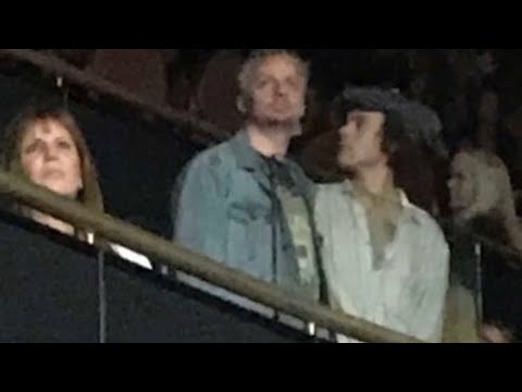 Harry Styles at The Fleetwood Mac concert at The Forum.