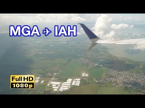 [Flight]B737-800, Taking off from Managua, Landing to Housto
