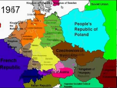 Political Borders Of Germany From To YouTube - Germany map pre ww2