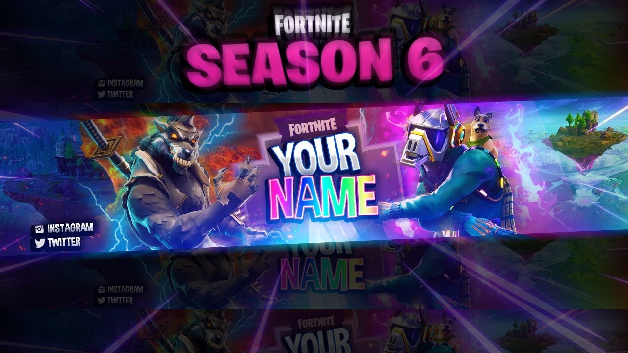 FREE Fortnite: Season 6 Themed Banner Template! (Photoshop ...