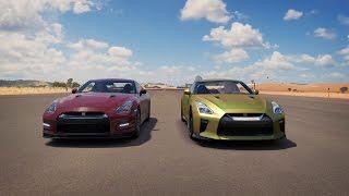 RomanAtwood Nissan GTR vs Tanner Fox Nissan GTR DRAG RACE | Forza Horizon 3  #SmileMore