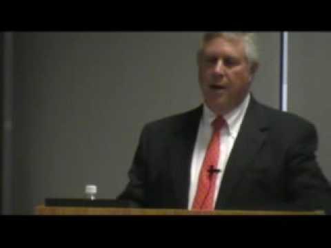 Representative Burt Solomons speaks at the Denton ...