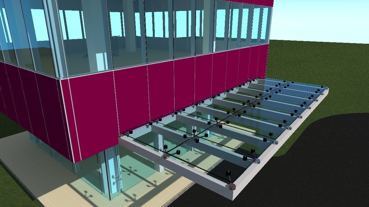 Archicad 21 Curtain Wall Glass Canopy Spider