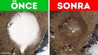 Günümüz Sıcaklıkları 700 Yıllık Bir Buzulun Erimesine Neden Oldu
