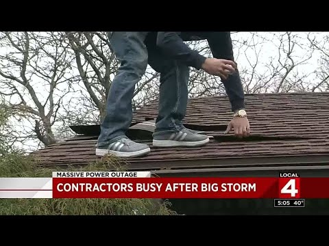 Contractors busy after big storm