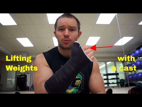 How to workout with an arm cast | Exercises and mental focus