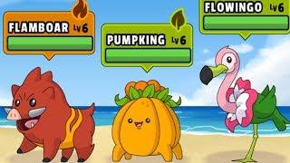 Thu Phục Lợn Rừng Lửa Và Cây Xương Rồng | DYnamons World | POKEMON Phiên Bản Trên Mobile