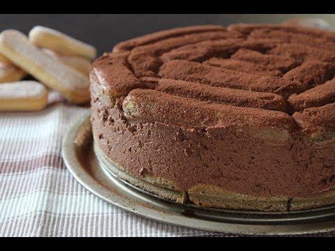 60523214945f Torta fredda al cioccolato fondente e savoiardi - Ricetta - YouTube