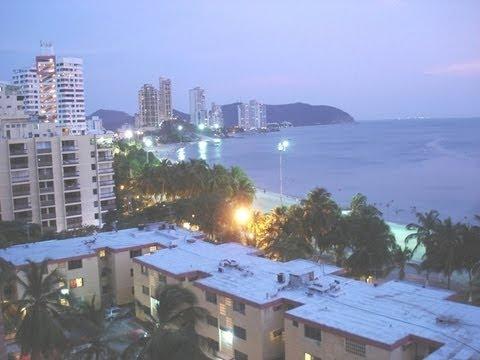 Rodadero Santa Marta Colombia  la noche en playa  YouTube