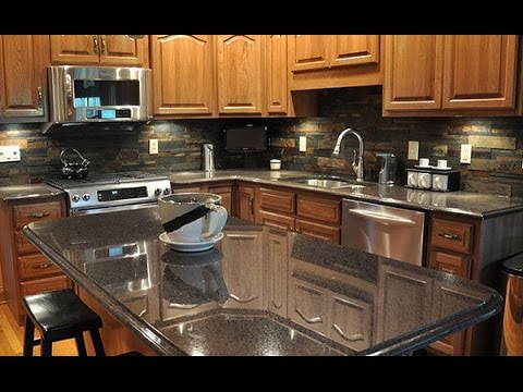 backsplash ideas for dark granite countertops youtube rh youtube com Kitchen Counter and Backsplash Combinations Kitchen Countertops and Backsplashes Ideas