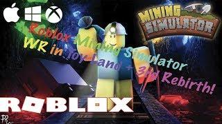 Roblox Mining Simulator WR in Toy Land + 3rd Rebirth
