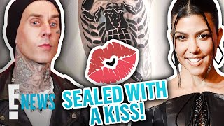 Travis Seals Kourtney Kardashian's Love With A TATTOO Kiss | E! News
