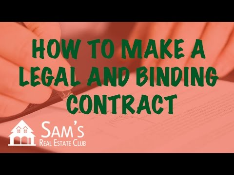 How To Make A Legal And Binding Contract