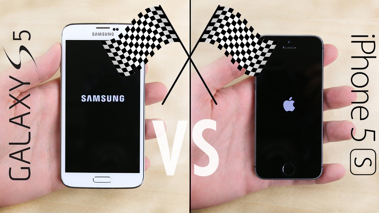 Galaxy S5 vs. iPhone 5S Speed Test