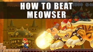 Super Mario Maker 2 how to beat Meowser