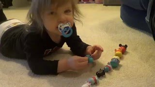 Genevieve plays with Tsum Tsum toys!
