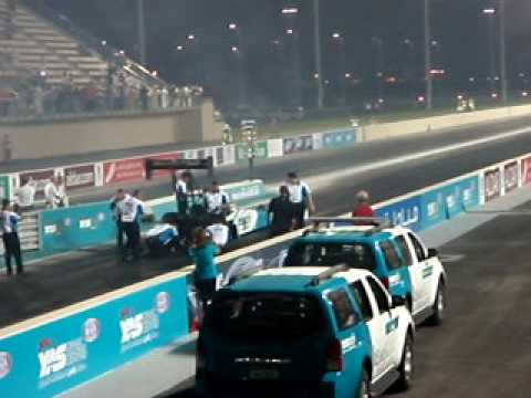 Top fuel drag racing 8000 bhp Yas Marina run